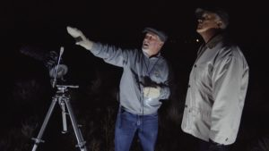 Danny Faulkner and Del Tackett with Telescope