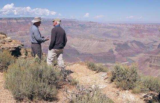 Steve Austin and Del Tackett at Desert View post flood