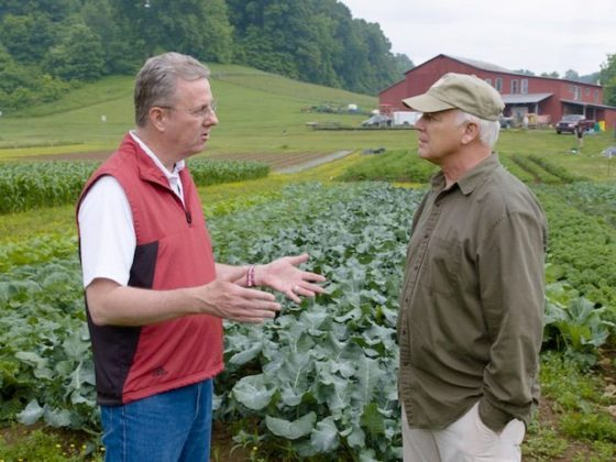 George Grant and Del Tackett at the Farm