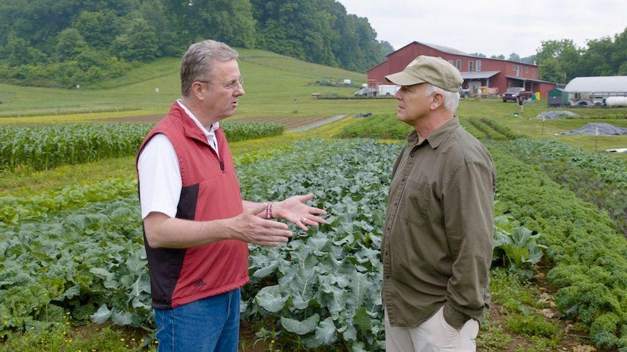 George Grant and Del Tackett at the Farm