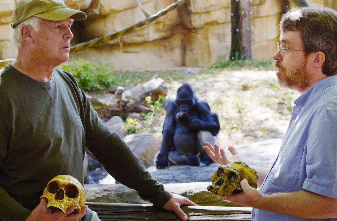Todd Wood and Del Tackett at Memphis Zoo